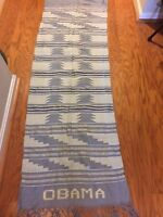 hand weaved  Kente shawl/scarf with OBAMA inscription