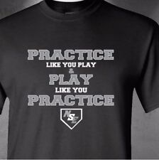 """Practice Like You Play NSE size 2XL """"No Small Enemies"""" Baseball training"""