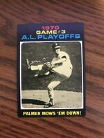 1971 Topps #197 AL Playoffs Game #3  Jim Palmer Baltimore Orioles ExMt