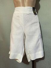 Womens Sz 20 Autograph White Pure Linen Elastic Waist Shorts