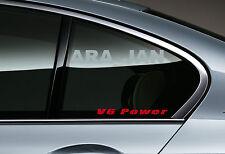 2 - V6 POWER Racing Sport Vinyl Decal sticker logo window RED