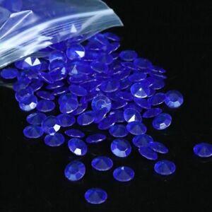 200pcs 10mm(4CT) Acrylic Diamond wedding Party Table 3D Decoration Blue