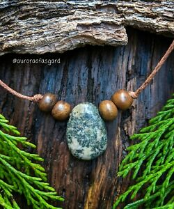 Stonehenge Welsh Preseli Bluestone Beaded Pendant, Jewellery Gift, Druid, Celtic