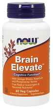 NOW Foods Brain Elevate Ginkgo Biloba, RoseOx and Phosphatidyl Serine FREE SHIP