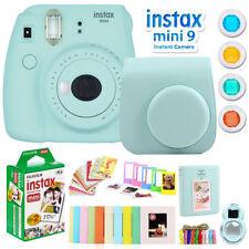Fujifilm Instax Mini 9 Instant Camera w/ Deco Gear Accessories & Film (Ice Blue)