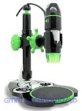 2.0MP 5X-500X USB Handheld Digital Microscope Micro Scaler 3D Metal Stand Black