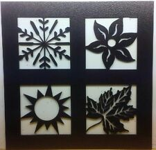 Winter, Spring, Summer and Fall Metal Wall Hanging - Indoor/outdoor decor
