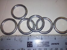 "4 WELDED METAL O RINGS  25mm   1"" x 4mm  Plated -  LEATHER CRAFT     100RNG6P"