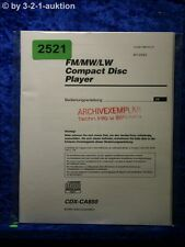 Sony Bedienungsanleitung CDX CA850 CD Player (#2521)