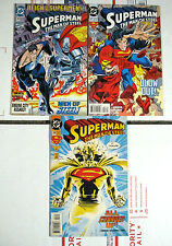 SUPERMAN MAN OF STEEL LOT 26,27,28 VF/NM FIRST PRINTS DC 1993