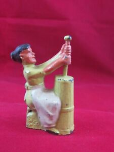 Vintage Manoil Lead Figure #41/33 Woman with Butter Churn - Train Layouts