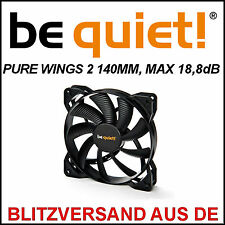 [be quiet!®] PURE WINGS 2 140mm Gehäuse-Lüfter/Fan →18,8dB Case Kühler PC 14cm