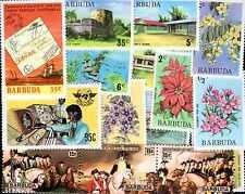 BARBUDA collections de 10 à 100 timbres différents