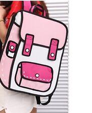 Simpático mochila cartera cartón animación multicolor código 2123
