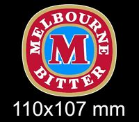 MELBOURNE BITTER STICKER  110x107mm .. victoria bitter vb  BUY 2 GET A 3rd FREE