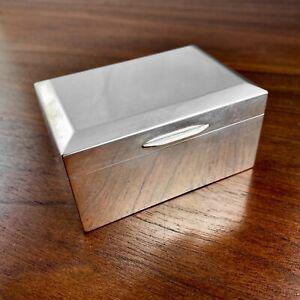 HEAVY SAMPSON MORDAN ENGLISH STERLING SILVER BOX W/ GILT INTERIOR - NO MONO 246G