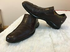 COLE HANN NIKE AIR Men Shoes Brown Leather S 10M Dress Loafers Cap Toe Slip On
