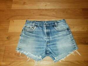 "Vintage Levi's 701 USA Button Fly Hi Rise Jeans Cutoff Tag 32"" (measures 30"")"