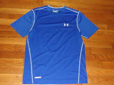 Under Armour Heatgear Blue Fitted Jersey Mens Large Excellent Condition