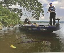 DEAN ROJAS SIGNED 8X10 PHOTO BASSMASTER ELITE SERIES YAMAHA FROG FISHERMAN K2