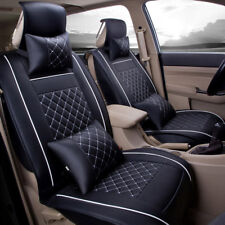 US Car Auto Sedan Seat Cover PU Leather 5 Seats Rear+Front Cushion  All Season
