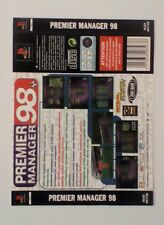 *BACK INLAY ONLY* Premier Manager 98 Back Inlay  PS1 PSOne Playstation