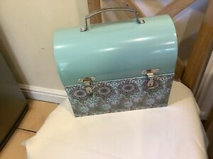 Vintage Looking William Morris NEW  Tin Case For  Paper  Work Or Any Storage