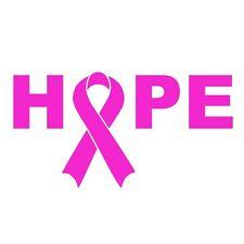 Breast Cancer Ribbon Hope Auto Car Bumper Window Decal Sticker Vinyl Graphic