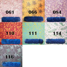 7'' Embossed Paint Roller Sleeve Wall Texture Stencil Brush Flower Pattern Decor