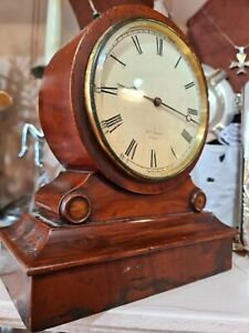 ANTIQUE MID 19TH C WALNUT AND HRY MARC  FRENCH V.A.P. BREVETE  MANTEL CLOCK