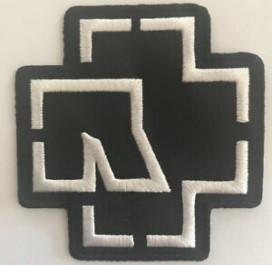 RAMMSTEIN WHITE Embroidered Iron On Sew On Patch