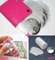 Nagel Stamping Schablone Platte Hülle Tasche mit Jelly Stempel und Schabe