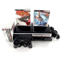 Sony PlayStation 3 40GB Black Console Bundle Lot w/ 7 Games, Controller Tested