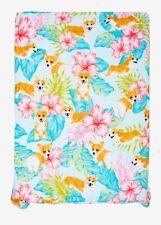 Corgi Tropical Full / Queen Comforter Summer Bedding Cute Dog Puppy Brand New
