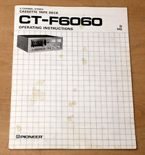 Pioneer Ct-F6060 stereo Hi-Fi cassette deck original owner user manual