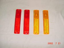 4 PC SIDE MARKER LAMP SET 1972-91 JEEP CJ CJ5 CJ7 CJ8 WAGONER CHEROKEE RED AMBER