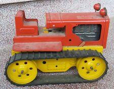 SOMMAVILLA - FIAT ? Modellino di latta Bulldozer Trattore giocattolo VINTAGE toy