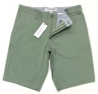 Lacoste Men's Slim Fit Texturised Stretch Cotton Bermuda Shorts In Khaki Green