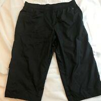 Danskin Now Capri Workout Pants Black Women's XL