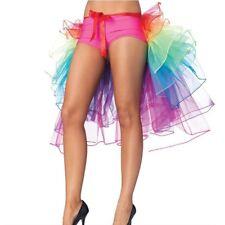 Lady Rainbow Half Bustle Tulle Tutu Skirt Burlesque Chemise Party Dance Clubwear