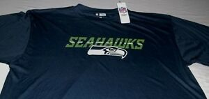 Seattle Seahawks Synthetic Jersey Shirt XL Tall Navy Stay Dry VF Imagewear MLB