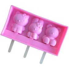 3Grids Hello Kitty Silicone Cake Mould Icecream Ice Candy Mold Icecream DIY Tool