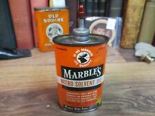 Marble's Nitro Solvent Gun Oil Tin Can Lead Oval Hunting Shooting Empty marbles