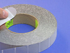 "Clear Translucent Frosted 1"" Wafer Seals 5,000 Roll CLR1W One Inch Round Labels"