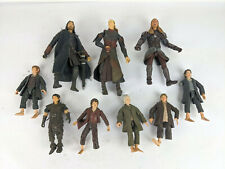 Lot of 9 Lord of the Rings ToyBiz Action Figures Frodo Legolas Bilbo Aragorn