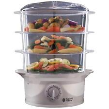 3 Tier Food Steamer Rice Vegetable Electric Steam Healthy Cooking Russell Hobbs