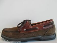 NEW - SEBAGO Schoodic Dark Brown Suede Boat Shoes - Size 8
