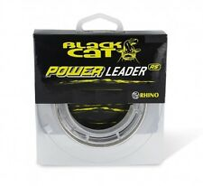 (0,55€/1m) Black Cat Power Leader 80kg 20m, Vorfachschnur für Waller