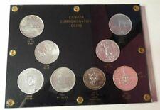 Canada Commemorative Coin Set 8 Coins 1935-1971 Silver
