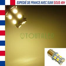 AMPOULE LAMPE 12V BA15S P21W 13 LED 5050 BLANC CHAUD CAMPING CAR BATEAU CARAVANE